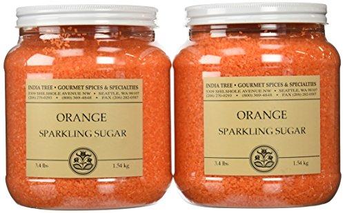 - India Tree Popsicle Orange Sparkling Sugar, 3.4 lb (Pack of 2)