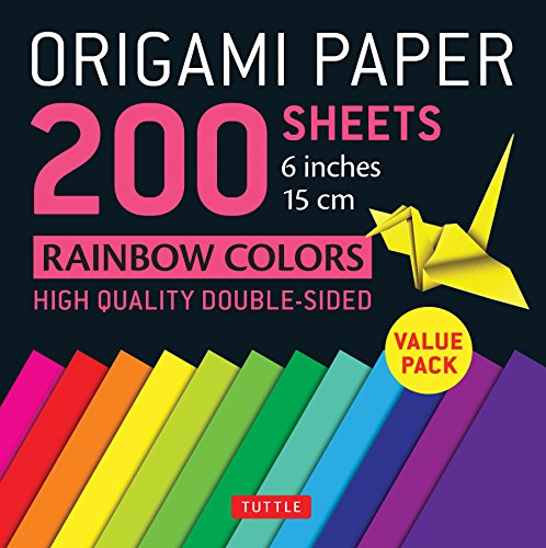 Pdf Crafts Origami Paper 200 sheets Rainbow Colors 6' (15 cm): Tuttle Origami Paper: High-Quality Origami Sheets Printed with 12 Different Colors: Instructions for 8 Projects Included