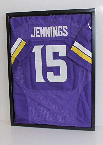 UV Protection Football Baseball Hockey Jersey Uniform Display Case Shadow Box, ULTRA CLEAR, - Jersey Case