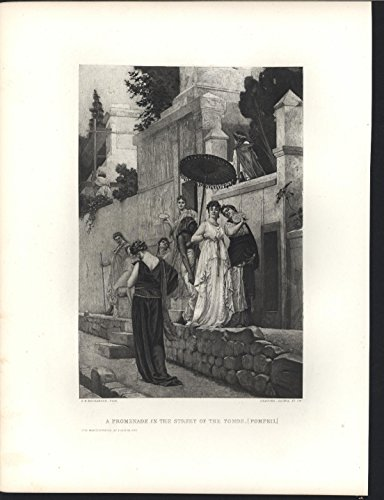 A Promenade in the Street of the Tomb Pompeii 1883 Gebbie antique - Promenade Street