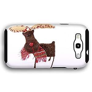 Cute Rudolph Hand Made Ornament Samsung Galaxy S3 Armor Phone Case