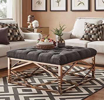 Amazon Com Modhaus Living Modern Upholstered Accent Coffee Table