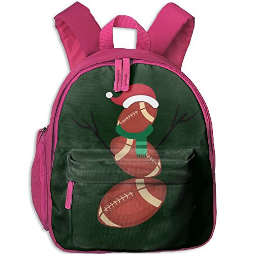 New College Football Uniforms (Nollm Funny Christmas Football Snowman Kid And Toddler Student Backpack School Bag Super Bookbag)