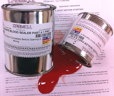 Dragons Blood Red Motorcycle Gas Tank Sealer