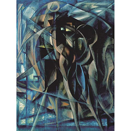 Berlin Figures Surreal Cubist Painting Art Print Canvas Premium Wall Decor Poster - Cubist Painting