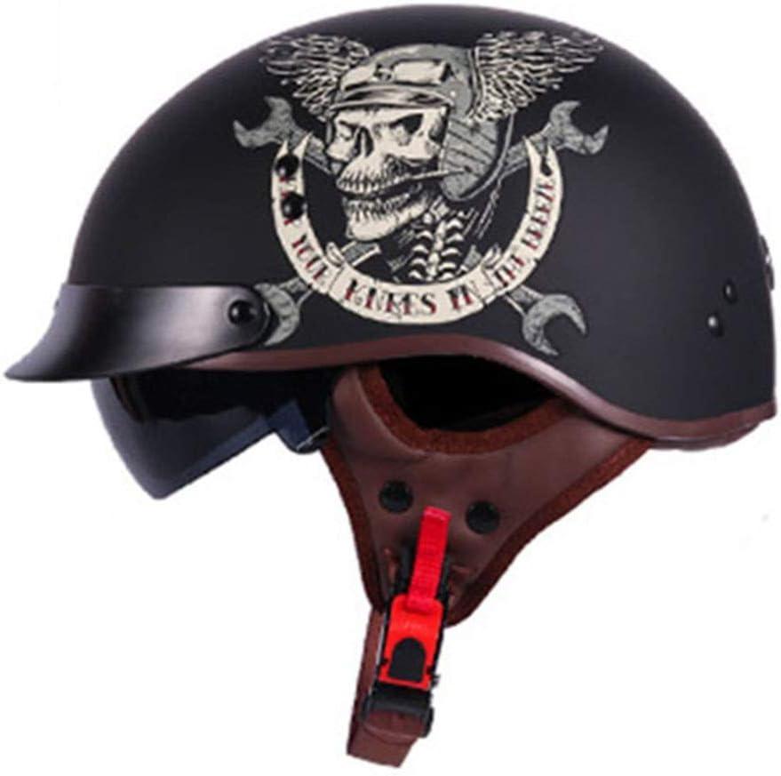 T10, XL Integrierte Sonnenblende DOT-zertifiziert Jethelm f/ür M/änner//Frauen Brillentr/äger Harley Vintage Cruiser MOTO Jet Helm ZOLOP Retro Motorradhelm Halbhelm