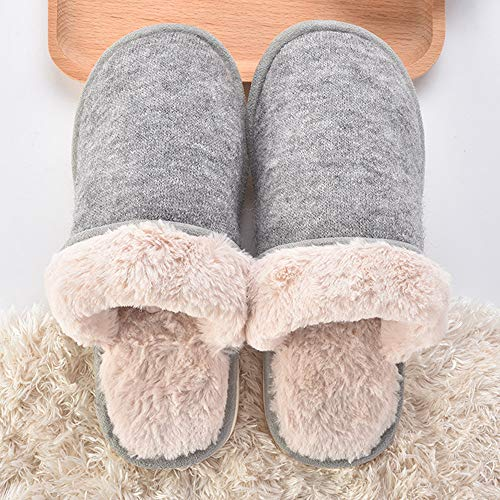 peluche Laine Pantoufles House Balabala Chaussures Hommes 5 Indoor Mini Doublure Mousse Femmes Mémoire En Grey Confort U8Bn0q