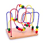 Small Foot by Legler 6941 - Skill Game Made of Wood with Three Different Colored Ribbons, for The of Gross Motor Skills, 2+ Years