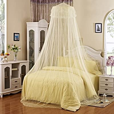 Round Hoop Canopy Netting Mosquito Net for Bed with Free Hook Single Door