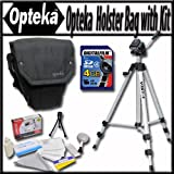 Opteka Ultra soft light weight padded SLR, DSLR Camera holster bag for short to mid-range lenses with Travel Tripod, 4GB Memory Card and Reader, and More!