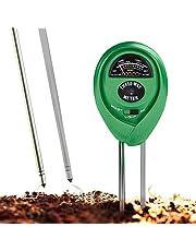 Misuratore pH del suolo, Kit 3 in 1 per testare il terreno, l'umidità, la luce e il pH, attrezzo per giardini, prati, piante, erba, per interni ed esterni, 100% di precisione (senza batterie)
