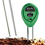 Soil pH Meter, 3-in-1 Soil Test Kit For Moisture, Light and pH, A Must Have For Gardening Tools, Lawn, Farm, Plants and Herbs, Indoor and Outdoors Soil Tester with 100% Accuracy (No Battery Needed)
