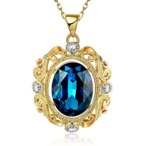 Fashion Quality Pearl and Diamond Accent Pendant Inlay Crystal Necklaces-Guillermo B. Randle (gold-plated-base)