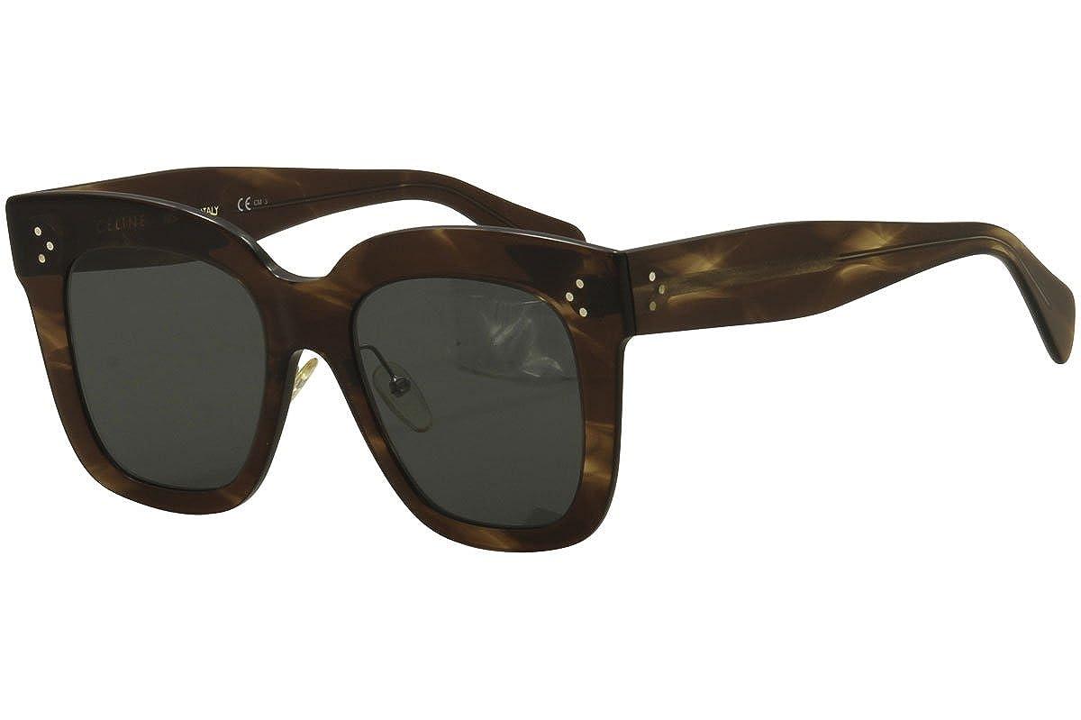 a409f787fb7d Amazon.com  Celine CL41444 S 07B Havana Brown Kim Square Sunglasses Lens  Category 3 Size 51  Clothing