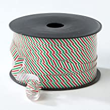 "Christmas Red & Green Stripes Curling Ribbon - Get 2 Spools of 250 Yards, 1/4"" Wide, Thermoplastic"