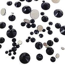 JET (280) 144 pcs Swarovski 2058/2088 Crystal Flatbacks black rhinestones nail art mixed with Sizes ss5, ss7, ss9, ss12, ss16, ss20, ss30 **FREE Shipping from Mychobos (Crystal-Wholesale)**
