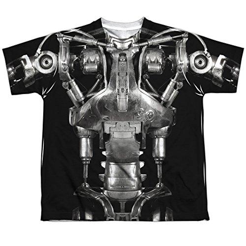 The Terminator Endoskeleton Costume Big Boys Sublimation Shirt White (Sarah Connor Terminator 2 Costume)