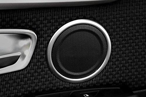 Chrome ABS Porte int/érieure Haut-parleur Cadre Coque Trim 4 pcs Pour Accessoire de voiture BM2S15160
