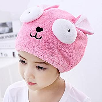 AUCH 1Pcs Adjustable Plush Cute Big Eyes Baby Hair Drying Hat Super  Absorbent Towel Adjustable Infant 24123d0df3d