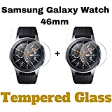 M.G.R.J Tempered Glass Screen Protector for Samsung Galaxy Watch 46mm - Pack of 2