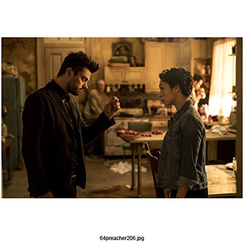 Dominic Cooper 8 Inch x 10 Inch photograph Preacher (TV Series 2016 - ) Opposite Ruth Negga in Kitchen Profiles kn