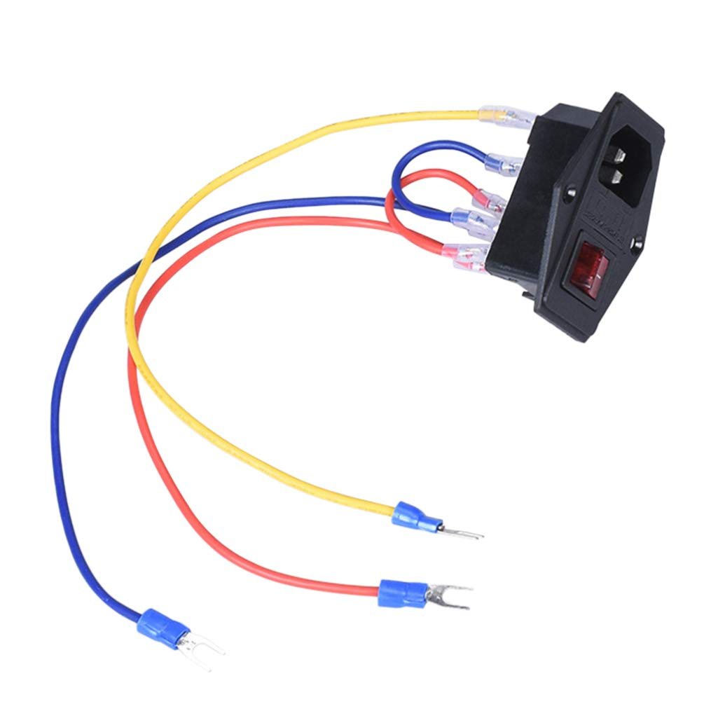 Balacoo 1 PC Power Outlet Rocker Switch Replacement Durable with Fuse 15A 110//220V Power Outlet Power Switch 3D Printer Parts for 3D Printer