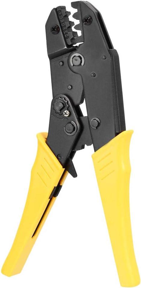 sourcing map Ratchet Crimping Press Plier Crimper Tool Awg 20-10 for 1-5mm2 Closed End Crimp Terminals