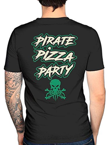 Pirate T Pizza Alestorm Party Official shirt gwn1Fa