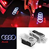 4BetterCarLife Easy Installation For Audi HD Car Door Welcome Logo Projector Light Changeable Logo Lens Replacement LED Ghost Shadow Courtesy Lamp