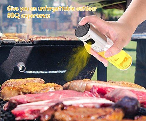 SPCEUTOH Olive Oil Dispenser Large 3.42-Ounce Oil Sprayer Vinegar Bottle for Cooking Food-Grade Oil Sprayer Misters Air Fryer Stainlness Steel,Salad,BBQ,Frying,Baking by SPCEUTOH (Image #1)