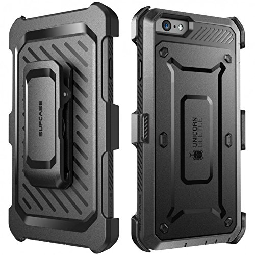iPhone 6 Plus Case, SUPCASE [Heavy Duty] Belt Clip Holster Apple iPhone 6 Plus Case 5.5 inch [Unicorn Beetle PRO Series] Full-body Rugged Hybrid Protective Cover with Built-in Screen Protector, Dual Layer + Impact Resistant Bumper [Not Fit iPhone 6 4.7 inch]