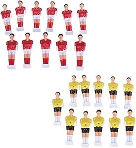 D DOLITY Premium Jugadores de Fútbol de Mesa para Reemplazar Muñecas de Football Men de Futbolín Color Rojo y Amarillo: Amazon.es: Deportes y aire libre