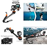 GOOD MEDIA Waterproof Swivel Selfie Stick Rotating Pole Black For Gopro Cameras Smartphones ✅