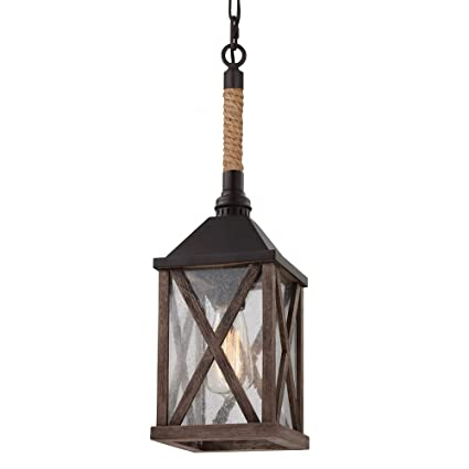 Rustic glass pendant lighting Dining Table Image Unavailable Amazoncom Feiss P1326dwoorb Lumiere Rustic Glass Pendant Lighting Bronze