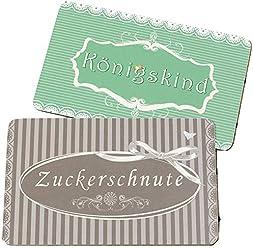 Hanse Gl/ücks-Manufaktur GmbH Serviertablett Holz Vintage Deko Tablett