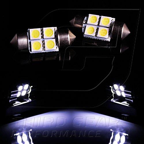 TGP 31MM White 4 LED SMD 5050 Festoon Map Light Bulbs Pair 2003-2008 Nissan 350Z