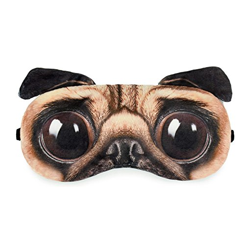 Zabrina Fuuny Creative Animated Cartoon 3D Dog Eyes Bulldog Sleep Mask Ice Pack Patch for Hot & Cold Therapy Light Shading (Eye Patch Therapy)
