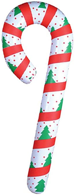 amazoncom new festive inflatable candy cane christmas decoration home kitchen
