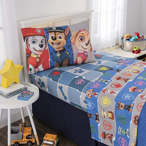 Nickelodeon Paw Patrol Kids Bedding Soft Microfiber Sheet Set, Twin Size 3 Piece ()