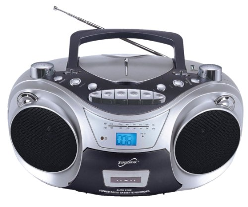 Supersonic SC709CD CD Boombox with MP3 and Cassete Player