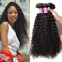 UNice Hair Wholesale 7A Grade Peruvian Curly Hair 3 Bundles, 100% Virgin Cheap Human Hair Weft Extensions Natural Color 95-100g/piece (12 14 16)