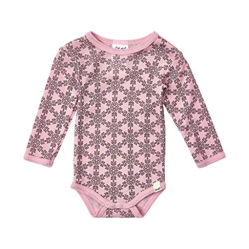 CeLaVi 100% Merino Wool Baby Toddler Onesie/Bodysuit Pink (3-24 Months) (Merino Wool Suit)