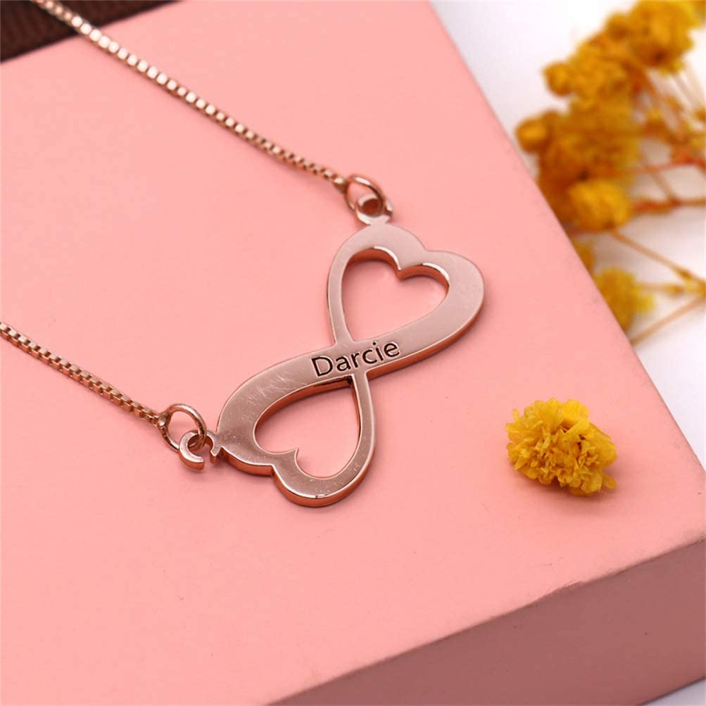 Quality.A Personalized Name Necklace Custom Silver Necklace Infinity Heart Necklace