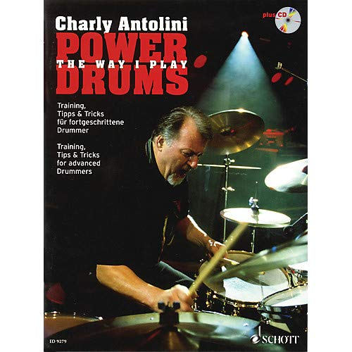 Power Drums (Training, Tips Tricks for Advanced Drummers) Schott Series Softcover with CD