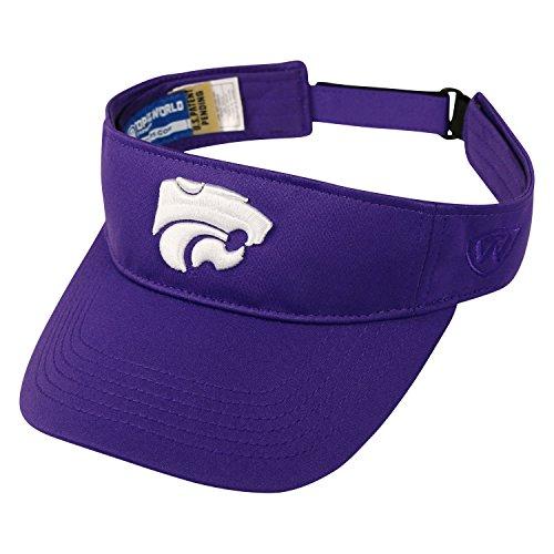 Top of the World Kansas State Wildcats Hawkeye Visor Hat - NCAA Adjustable Purple Golf Cap