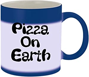 Pizza On Earth - 11oz Ceramic Blue Color Changing Mug, Blue