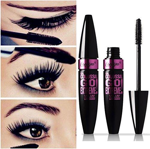 Alonea Black Waterproof Makeup Eyelash Long Curling Mascara Eye Lashes Extension (A)