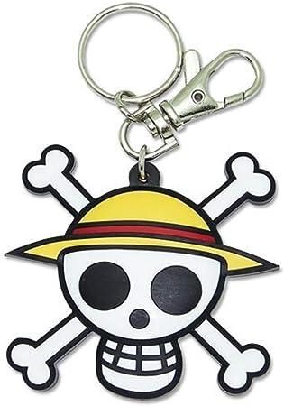 One Piece: Pvc Keychain Luffys Jolly Roger Straw Hat Pirates Logo
