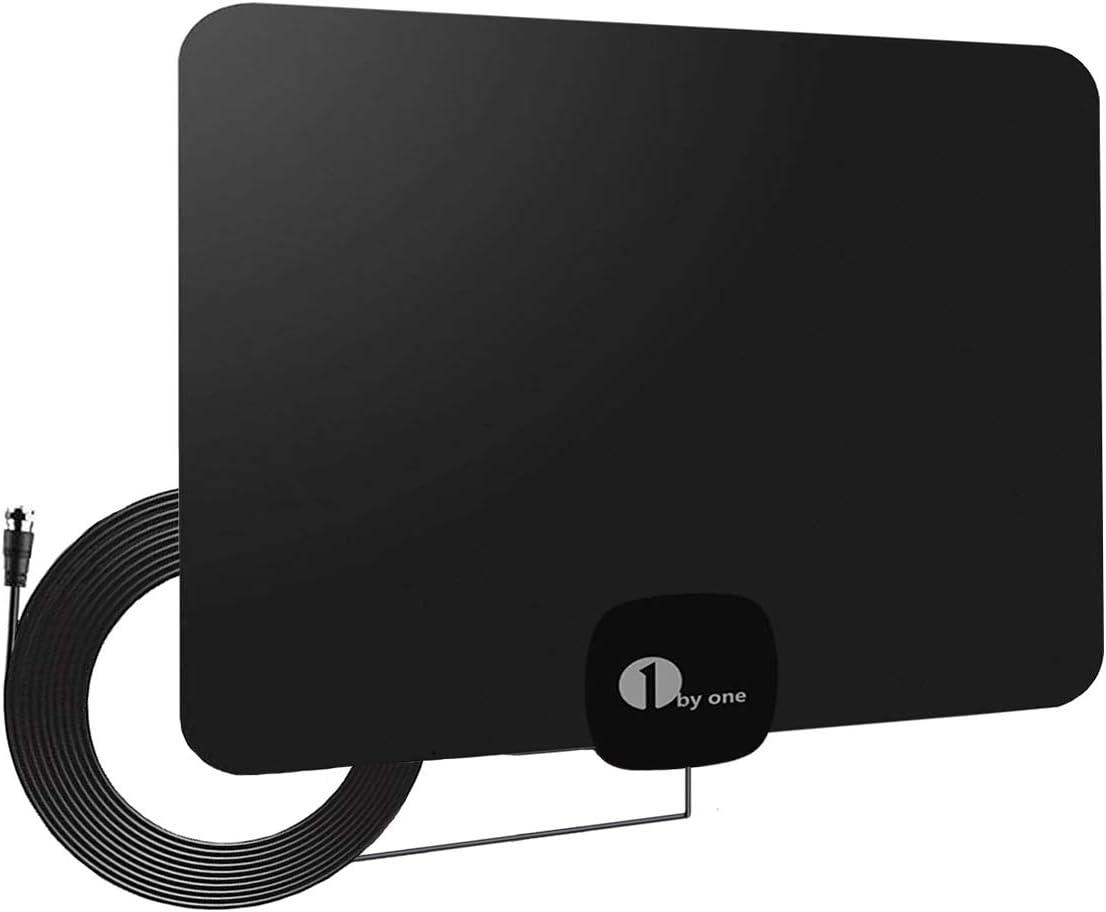2020 Newest Antena de TV,Antena de TV Digital para Interiores de Alcance de 60KM 1080P 4K,HD,con Cable Coaxial de 4M