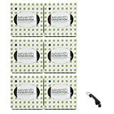 Seventh Generation Facial Tissues Cube, 2 ply - 85 count - (Pack of 6), 1 Keychain Bottle Opener (Bundle Pack)